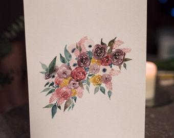 Original Floral Painting - Cascade