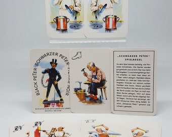 "1970 German Card Game, ""Black Peter"", ""Schwarzer Peter"", ""Pierre Noir"", Joker Brand, Made In Germany, Bielefelder Spielkarten GMBH"