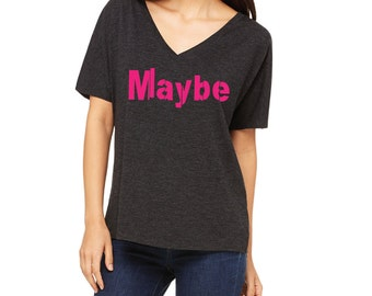 Maybe Slouchy V-Neck Tee, Activewear