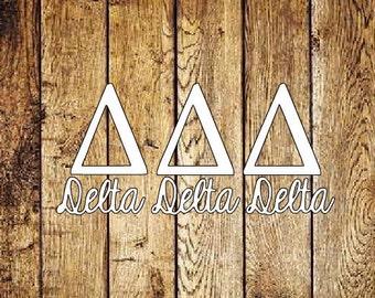 Delta Delta Delta Decal - Tri Delta