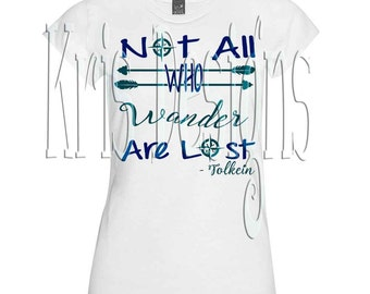 Not All Who Wander are lost SVG PNGJPG