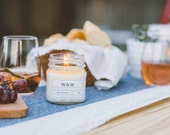 Coconut Lime - 9oz Pure Soy Wax Candle in Mason Apothecary Jar with Lid