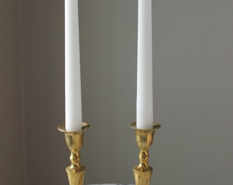 "Pair of 6"" Vintage Brass Candlestick Holders"