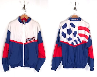 World Cup USA 94 Snickers Jacket. Vintage 90s Football World Cup of Soccer Snack Food Snickers Jacket.