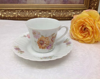 R Leclair limoges teacup and saucer