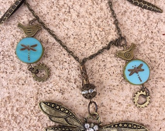 Dragonfly Party Charm Necklace