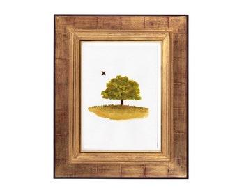 Watercolour Tree Print, Watercolor Tree Painting, Watercolour Tree Printable Art, Tree Wall Art, Botanical Decor, Botanical Art Prints