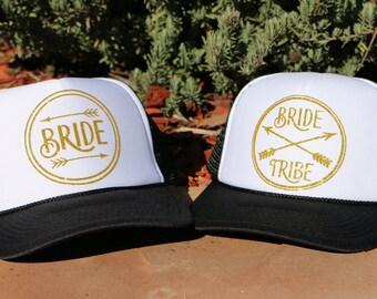 Bride Tribe- Bride Tribe Trucker Hat- Wedding Trucker Hat- Bachelorette Trucker Hat- Wedding Accessories- Wedding Hats- Bride- Bride Tribe