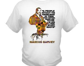 Marcus Garvey Africa Kente T-Shirt