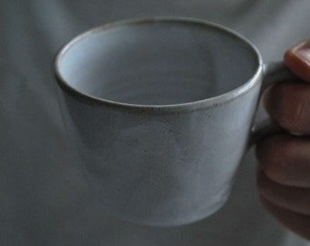 White Stoneware Mug/ Coffee Cup/ Cup/ Tea Cup/ Drinking Container/ Tumbler