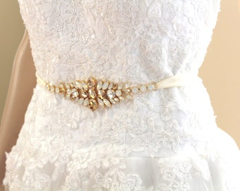 Wedding belt, Bridal sash, Sash belt, Champagne sash, Swarovski sash, Rhinestone belt, Bridal belt, Bridal sash belt, Wedding dress belt
