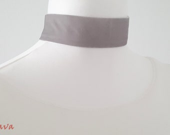 Choker collar necklace white gold Choker Velvet