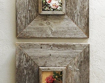 custom barn wood frames 3 x 5 old barn wood recycled repurposed upcycled reclaimed wood vintage farmhouse wood frames