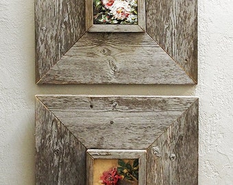 custom barn wood frames 3 x 5 old barn wood recycled repurposed upcycled reclaimed wood vintage farmhouse wood frames