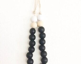Wooden Bead Garland, Wood Bead Garland, Garland, Wood Beads, Wood Garland, Bead Garland, bohemian, bohemian decor, Natural Wood, boho