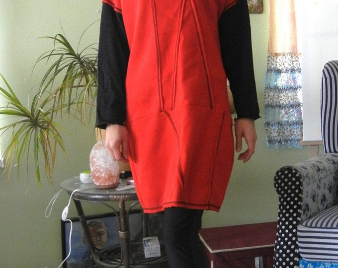 NEW Sexy Red Dress / Extravagant Red Dress / Loose Red Black Dress