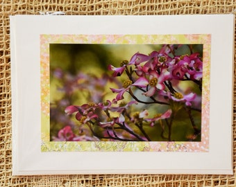 Pink Dogwood note card, 2