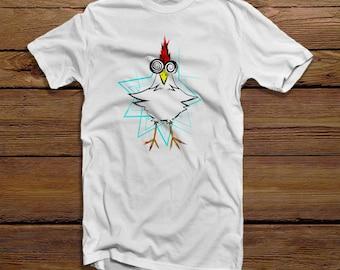 Hypno Cluck, Mens Tshirt, Hypnotized Shirt, Funny Chicken Shirt, Funny Chicken T-Shirt, Funny Men's Clothing, Hypnotized Design