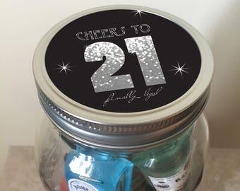 21st Birthday Minibar in a Jar - Milestone Birthday