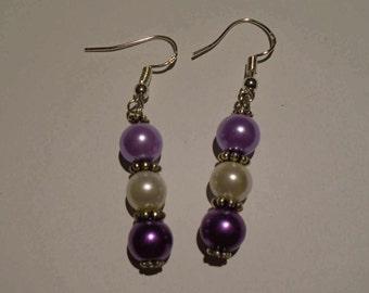 Purple Pearl Earrings