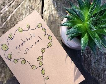 Kraft Gratitude Journal - Gratitude Notebook - 100% recycled  - Mindfulness Gift  - Positivity Notes - Kraft Notebook - Recycled Notepad