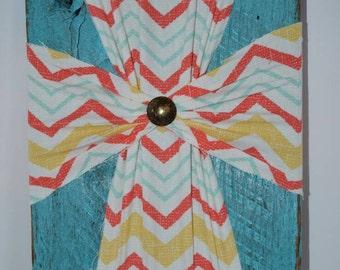 Cross | Fabric Wall Cross | Fabric Cross on Wood | Wall Cross | Cross Wall Decor | Wood Cross | Decorative Cross | Christian Cross