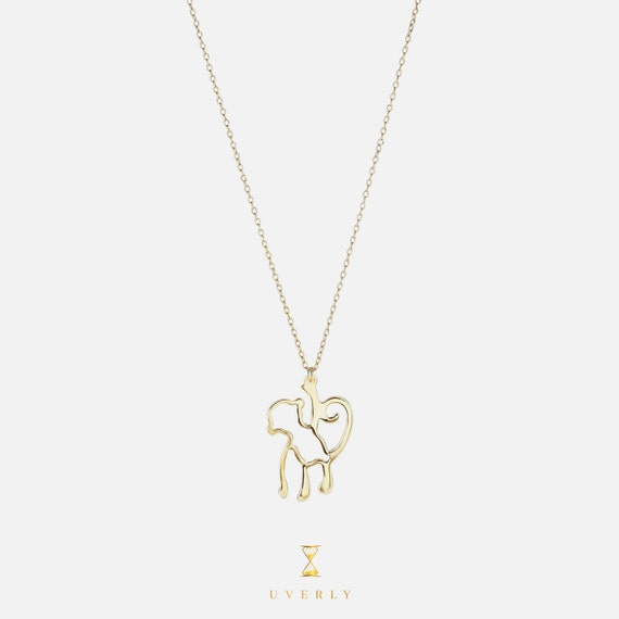 14k Solid Yellow Gold Womens Monkey Nature Charm Pendant Chain Necklace