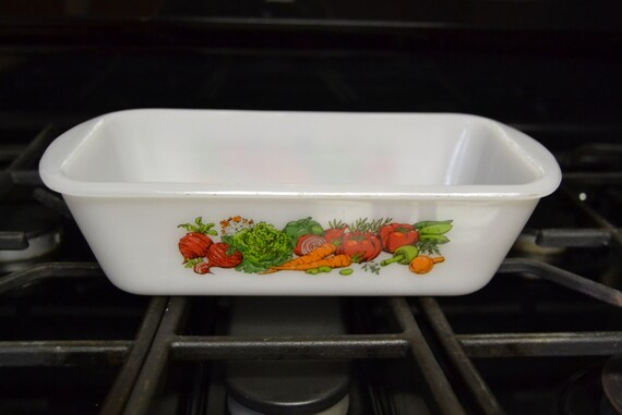 Glasbake Vegetable Loaf Pan Baker 1 1 2 Qt J522 Usa