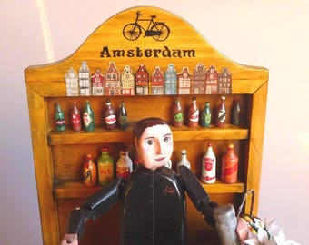 MADE TO ORDER. Personalised Barman automata. Wooden toys. Wooden automata. Collecting and play. Kinetic art. Moving sculpture