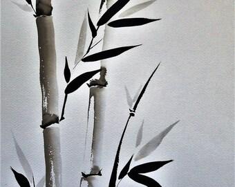 Bambù #1  carta italiana -  Bamboo #1 on Italian paper FREE SHIPPING!