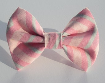 Pinks and Light Teal Chevron Bow Tie- All Sizes