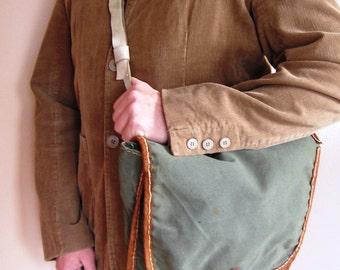 Yugoslavian Army Bag, Army Shoulder Bag Yugoslavia, Army Surplus Crossbody Bag, Vintage Cross Body Bag, JNA Handbag, Military Surplus Bag