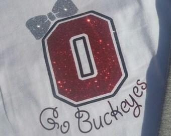 GLITTER Ohio State Girls Tee