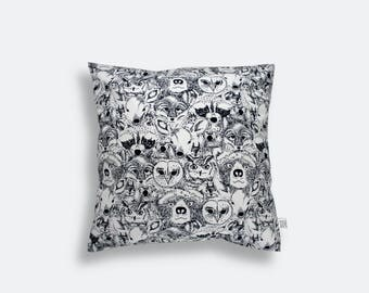 Pillowcase – forest faces