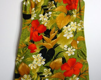 Lovely Vintage Hawaiian Psychedelic dress 10 12 1970s
