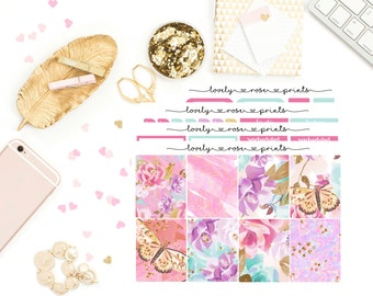 Butterfly Garden White Space Vertical Weekly Kit