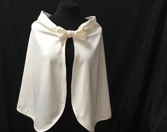 bridal cape, bridal capelet , bridal cover up , wedding cape , bridal cover up , cape