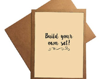 Notecard Set - Build Your Own