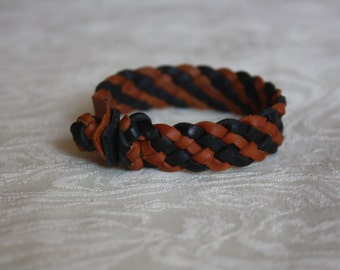 Braided Leather Bracelet TwoTone