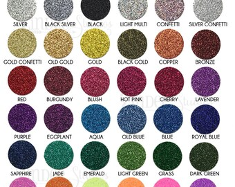 Siser Glitter Heat Transfer Vinyl Sheets, REAL glitter and Tons of sparkle, no flaking 12x20 sheet