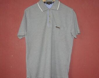 Vintage MCM Legere Mode Creation Munchen 1990s Polo men's shirt size Medium / 1990s Fashion Italy designer shirt /