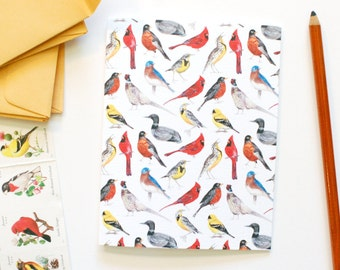 State Birds of the Midwest Greeting Note Card
