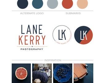 Minimalist Branding Package,  Logo Design, Modern Business Logo Set, Premade Branding Kit, Photography Logo Watermark Submark Etsy Shop Logo