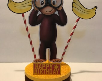 Curious George Birthday Centerpiece