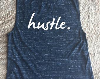 Hustle Workout Muscle Women's Tank Top - Crossfit