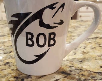 Custom fishing mug