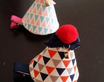 baby girl  pom Peaked cap hair clip