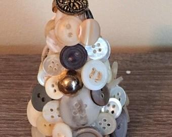 Mini Cute as a Button Tree - White
