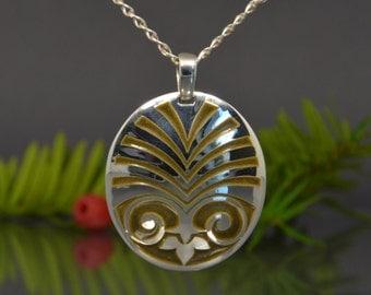 Silver pendant, enamel pendant, unique pendant, handmade pendant, original necklace, brown pendant, oval pendant,  enamelled necklace.