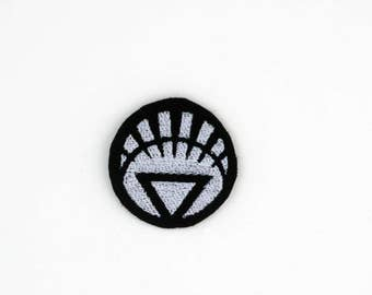 White Lantern Corps, Lantern Corps Patch, DC Patch, White Lantern Corps, Whie Lantern Pin, Iron On Patch, White Lantern Embroidered Patch